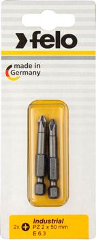 бита hammer pb pz 2 pz 2 50мм 2шт Бита крестовая Felo PZ 1X50 02101536