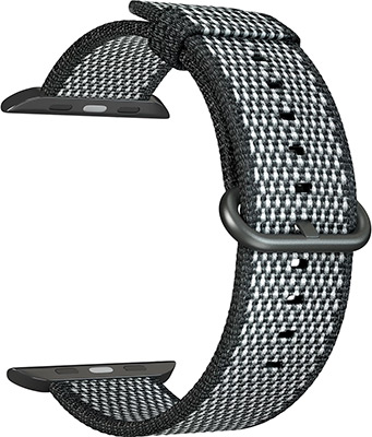 Ремешок для часов Lyambda для Apple Watch 42/44 mm POLIS DSN-02-03A-44-BK Black ремешок для часов lyambda для apple watch 42 44 mm minkar dsp 10 44 black