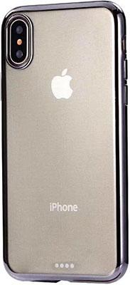 Чехол (клип-кейс) Eva для Apple iPhone X - Прозрачный/Черный (IP8A010B-X)