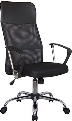 Кресло Riva Chair 8074 Чёрная ткань/Чёрная сетка