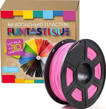 PLA-пластик в катушке Funtastique PLA-1KG-PK 1.75 мм 1 кг (Розовый) 1 75mm pla 3d printer filament printing refills 10m