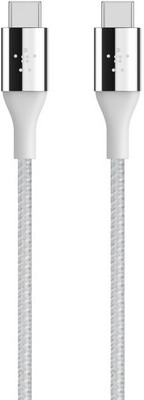 Фото - Кабель Belkin USB-C папа/USB-C папа 1 2м светло-серый (F2CU050BT04-SLV) кабель borasco usb type c 2а 2м витой черный