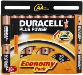 Батарейка Duracell Basic LR6-18BL MN1500 AA (18шт) батарейка aa duracell lr6 mn1500 2 штуки