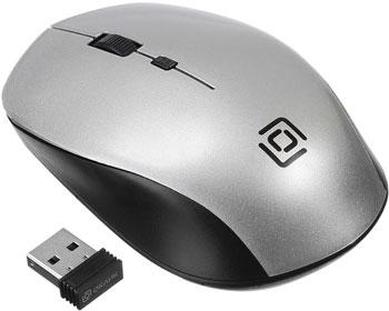Беспроводная мышь Oklick 565MW glossy черный/серебристый оптическая (1000dpi) беспроводная USB (3but) мышь oklick 695mw черный золотистый оптическая 1000dpi беспроводная usb 3but