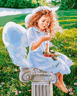 Картина по номерам Цветной, ''Сказочный ангел'' (40 х 50) на подрамнике gx31186, Китай  - купить со скидкой