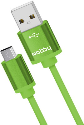 USB кабель Nobby Practic microUSB 1 м 2А DT-005 зеленый 0204NB-005-001