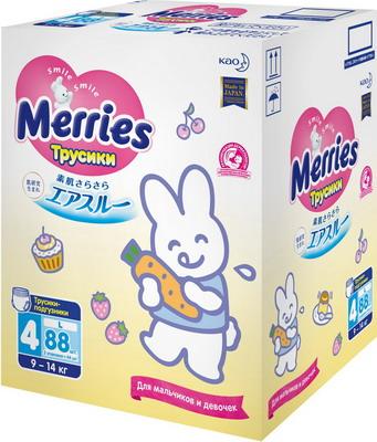 Трусики-подгузники Merries L 9-14кг 88шт merries трусики подгузники для детей размер l 9 14кг 44 шт