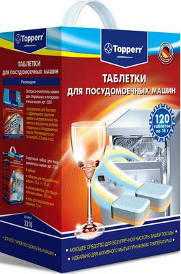Таблетки для посудомоечных машин Topperr 120 шт. 3310 таблетки для посудомоечных машин topperr 3310