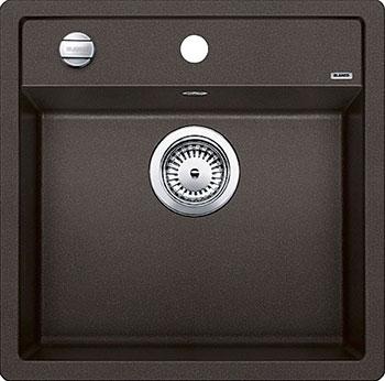 Кухонная мойка BLANCO DALAGO 5 SILGRANIT кофе с клапаном-автоматом кухонная мойка blanco dalago 5 f silgranit кофе с клапаном автоматом
