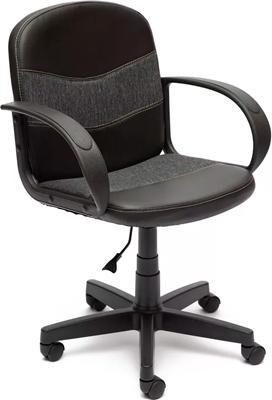 купить Офисное кресло Tetchair BAGGI (кож/зам/ткань черный/серый 36-6/207) по цене 3590 рублей