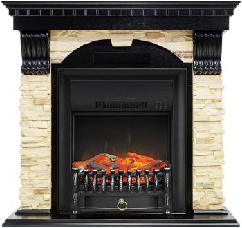 Каминокомплект Royal Flame Dublin арочный сланец с очагом Fobos FX BL (венге) 66211164923893 цена