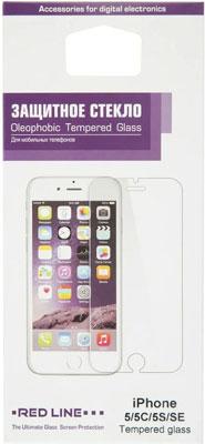 Защитное стекло Red Line iPhone 5/5C/5S/SE tempered glass