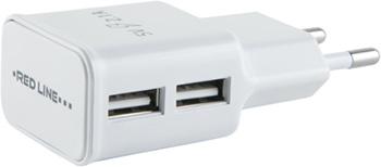 СЗУ Red Line 2 USB (модель NT-2A) 2.1A и кабель Type-C белый