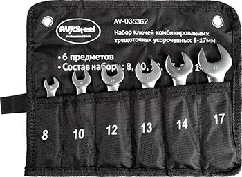 Фото - Набор ключей AV Steel AV-035362 набор проходных головок av steel av 011029 1 4 29 предметов