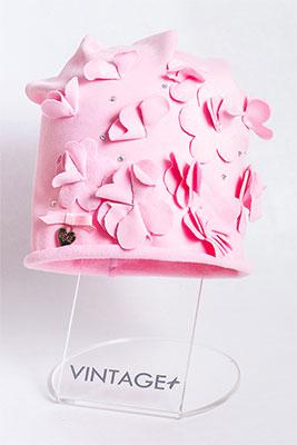 цена Шапочка Vintage Николь розовый онлайн в 2017 году