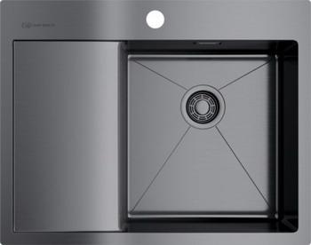 Кухонная мойка Omoikiri AKISAME 65-GM-R вороненая сталь (4973098) кухонная мойка omoikiri akisame 78 gm r нерж сталь вороненая сталь 4973100
