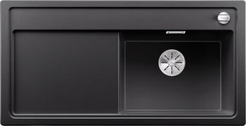 Кухонная мойка BLANCO ZENAR XL 6S (чаша справа) SILGRANIT антрацит с кл.-авт. InFino 523944 кухонная мойка blanco zenar xl 6s чаша справа silgranit шампань с кл авт infino 523950