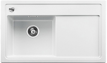 Кухонная мойка Blanco 523822 ZENAR 45 S-F (чаша слева) SILGRANIT белый с кл.-авт. InFino кухонная мойка blanco 523822 zenar 45 s f чаша слева silgranit белый с кл авт infino