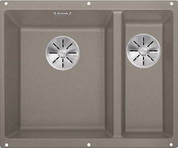 цены Кухонная мойка Blanco SUBLINE 340/160-U SILGRANIT серый беж (чаша слева) с отв.арм. InFino 523556