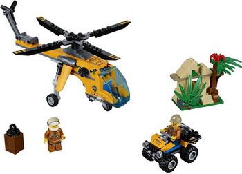 Конструктор Lego CITY Грузовой вертолёт исследователей джунглей 60158 lego city 60179 вертолёт скорой помощи lego