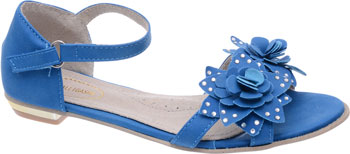 Туфли открытые Аллигаша 350306 32 размер цвет синий цена в Москве и Питере