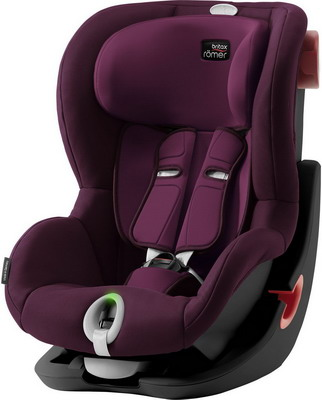 Автокресло Britax Roemer King II LS Black Series Burgundy Red Trendline 2000030804 автокресло britax romer king ii ls black series football edition highline