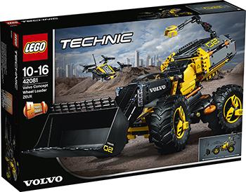 Конструктор Lego VOLVO колёсный погрузчик ZEUX TECHNIC 42081