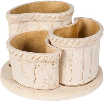Декоративное изделие ФИТОКЕРАМИКА Модуль трио 1209