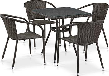 Комплект мебели Афина T 282 BNT/Y 137 C-W 53 Brown 4Pcs