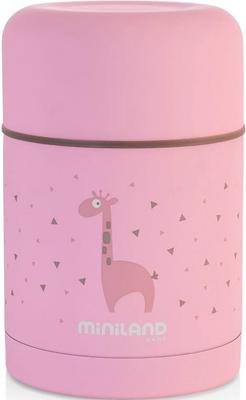 Детский термос для еды Miniland Silky Thermos 600 мл розовый 89222