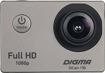 Экшн-камера Digma DiCam 150 серый экшн камера digma dicam 150 1080p серый [dc150]