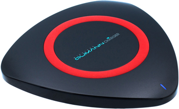 Беспроводное ЗУ Qumann QWC-01 Wireless Delta Qi Charger Black/Red ring 50511