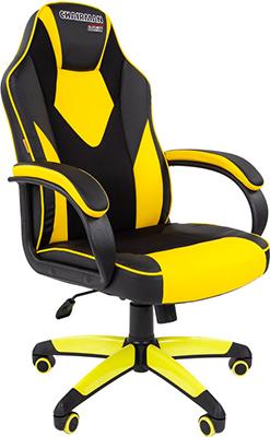 Кресло Chairman game 17 экопремиум черный/желтый 00-07028515 кресло chairman game 16 экопремиум черный желтый 00 07028514