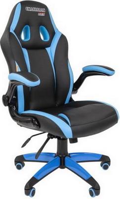 Кресло Chairman game 15 экопремиум черный/голубой 00-07022779