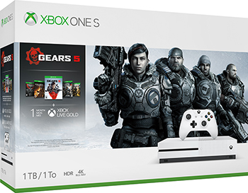 Стационарная приставка Microsoft Xbox One S 1Tb с играми Gears 5 Ultimate-издание Gears of War Gears of War 2 3 и 4 игра для xbox one microsoft gears of war ultimate edition 4v5 00022