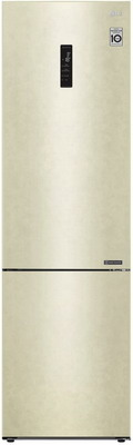 Двухкамерный холодильник LG GA-B 509 CESL Бежевый холодильник lg ga b379seql двухкамерный бежевый