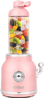 Фото - Блендер Kitfort KT-1375-3 розовый чайник kitfort kt 642 1 розовый 2200 вт 1 7 л