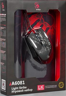 Мышь игровая проводная A4Tech Bloody A6081 черный мышь игровая a4tech bloody p91 pro черный