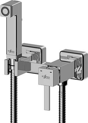 Смеситель для ванной комнаты Rossinka X25-54 с гигиеническим душем встраиваемый смеситель для биде rossinka x25 56 с гигиеническим душем на унитаз