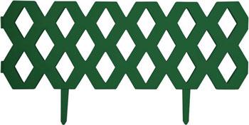 Забор Park Ромб декоративный гибкий L=1 2м H=22см (2шт по 60см и 4 ножки) темно-зеленый 999137 забор park ромб декоративный гибкий l 2 4м h 22см 4шт по 60см и 8 ножек белый 999161
