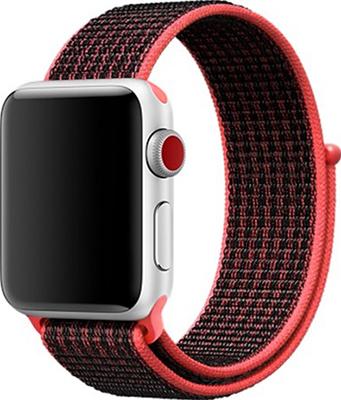 Ремешок для часов Eva для Apple Watch 42/44 mm Черный/Красный (AWA009BR) ремешок для смарт часов aceshley ремешок для apple watch 38 мм металлический черный магнитный замок ac38mb черный