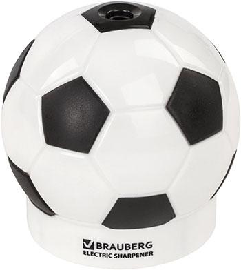 Точилка Brauberg ''Football'' питание от 4 батареек АА доп. сменное лезвие 228427 насадка на сменное лезвие heiniger oster 1 4 8 мм 1 шт