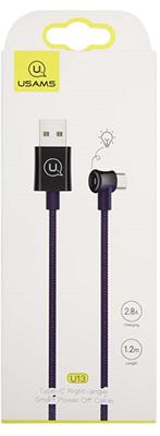 Фото - Кабель Usams U13 USB - Type-C Smart Power-off синий (SJ341USB03) кабель usams u16 led usb type c черный sj287usb03