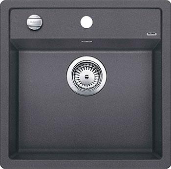 Кухонная мойка BLANCO DALAGO 5 SILGRANIT темная скала с клапаном-автоматом мойка blanco dalago 45 silgranit puradur 518846 тёмная скала размер шхд 46 5см х 51см