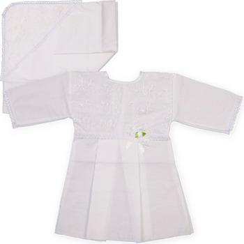 Крестильный набор Арго Для девочки 62 белый распашонка для девочки lucky child цветочки цвет светло розовый 11 7 размер 62 68 2 3 месяца