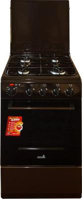 Комбинированная плита Cezaris ПГЭ 1000-03 коричневый цена