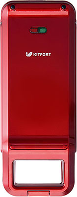 все цены на Вафельница Kitfort КТ-1611-2 красный онлайн