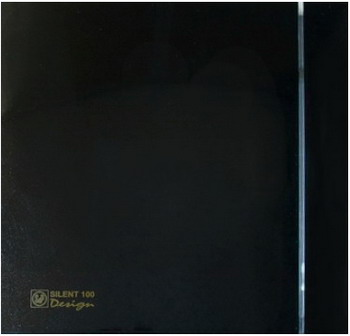 Вытяжной вентилятор Soler & Palau Silent-100 CZ Design 4C (черный) 03-0103-136