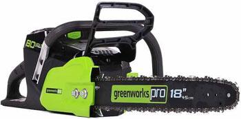 Цепная пила Greenworks 80 V Digi-Pro GDCS 50 без аккумулятора и зарядного устройства 2000507 аккумуляторный кусторез greenworks 80 v digi pro gd 80 ht без аккумулятора и зарядного устройства 2200607