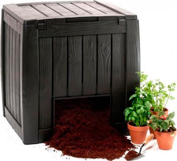 Компостер Keter Deco Composter 340 л черный 17196661 цена 2017